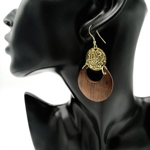 """Golden Eclipse"" Indian Style Earrings"